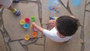pintamos con tizas
