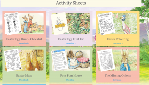 activities peter rabbit