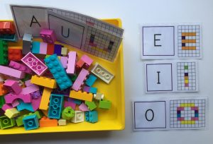 construir letras lego