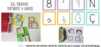156 Tarjetas números y letras