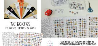 756 botones: imágenes, números y letras, ¡para jugar!